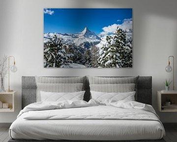 De Matterhorn in Zwitserland op een kraakheldere winterdag van Arthur Puls Photography
