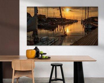 zonsondergang in de haven van Corrie Ruijer