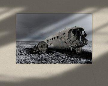 DC3 Vliegtuigwrak bij Sólheimasandur, IJsland van Hans Peter Debets