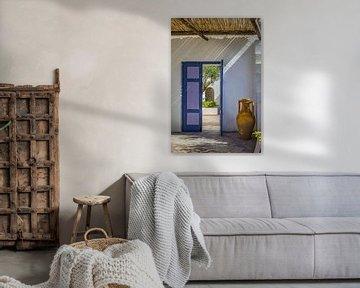 Entrée de la maison méditerranéenne avec amphore sur Ischia sur Christian Müringer
