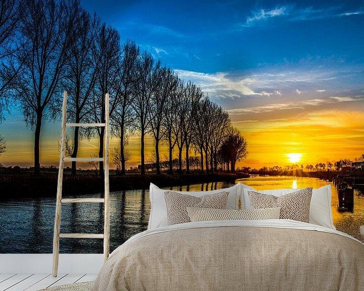 Sfeerimpressie behang: Ik heb de zon zien zakken van Peter Malaise