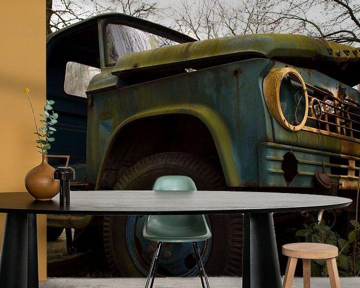 Beispiel fototapete: Verlassenes Auto von Gert-Jan Kamans