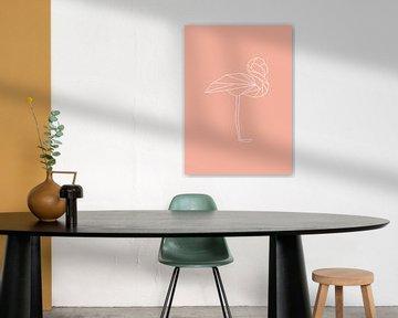 Flamingo - Grafische Tiere von Dieuwertje en Kevin van der Linden - Meijer