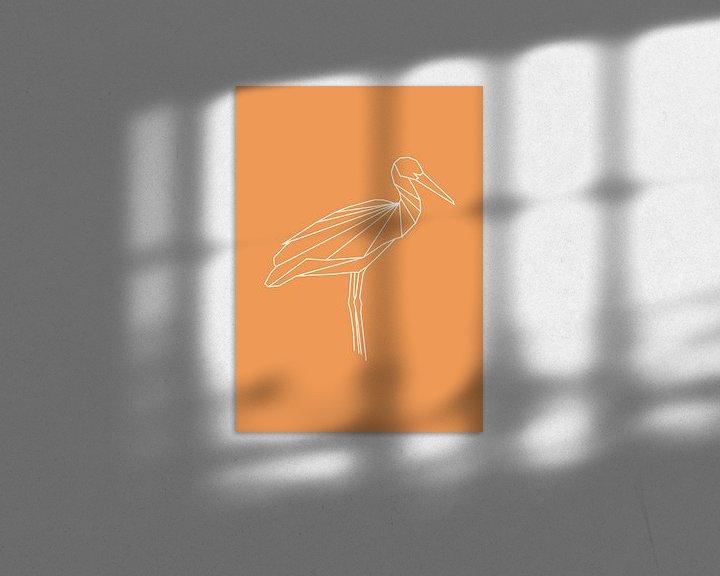 Beispiel: Storch - Grafische Tiere von Dieuwertje en Kevin van der Linden - Meijer