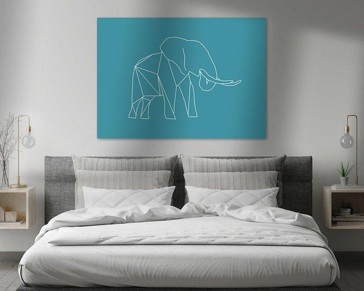 Beispiel: Elefant - Grafische Tiere von Dieuwertje en Kevin van der Linden - Meijer