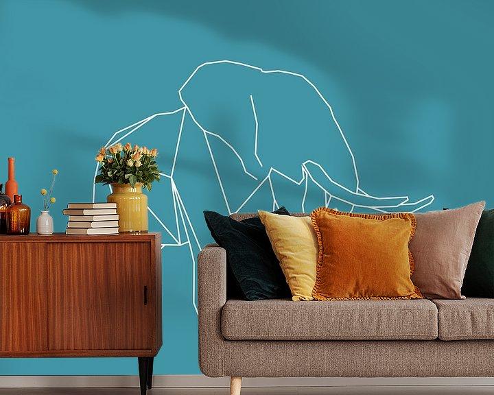Beispiel fototapete: Elefant - Grafische Tiere von Dieuwertje en Kevin van der Linden - Meijer