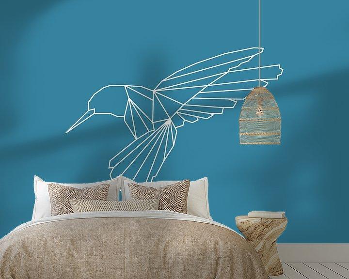 Beispiel fototapete: Kolibri - Grafische Tiere von Dieuwertje en Kevin van der Linden - Meijer