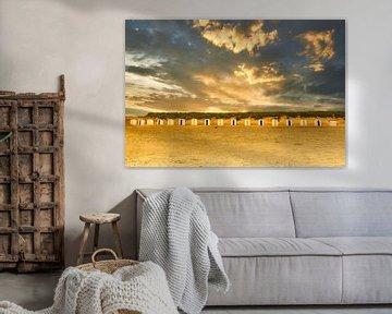 Strandhuisjes aan de Zeeuwse kust van René van der Horst