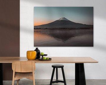 Mt. Fuji bij zonsopgang van Ashwin wullems