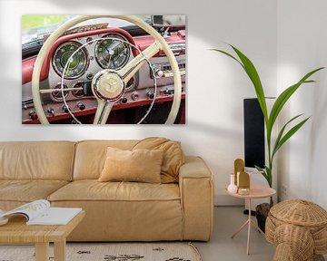 Mercedes-Benz 190SL Cabriolet intérieur de voiture classique sur Sjoerd van der Wal