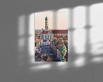 Augsburg in Beieren van Werner Dieterich