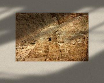 De oude invasie van Qumran op de dode zeeQumran is de ruïnes van een nederzetting van oude Joden - a van Michael Semenov