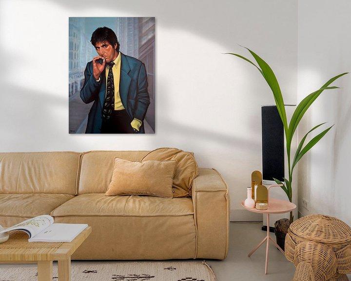 Beispiel: Al Pacino Painting 2 von Paul Meijering
