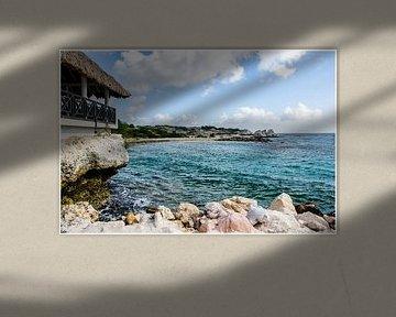 Strandhuis bij Blue Bay, Curacao van Joke Van Eeghem