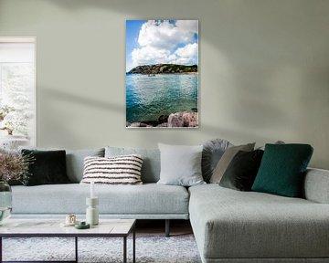 Heldere zee bij Blue Bay, Curacao van Joke Van Eeghem