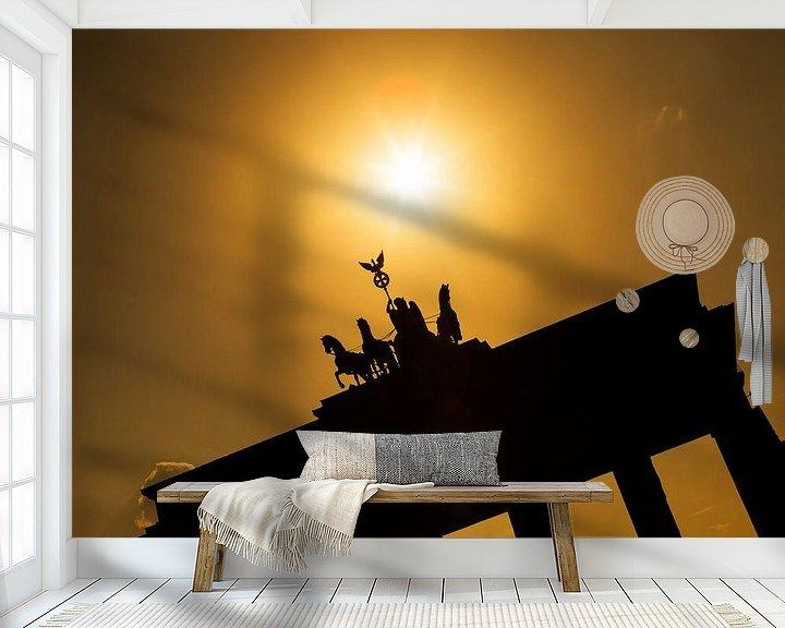 Impression: La porte de Brandebourg au coucher du soleil sur Frank Herrmann