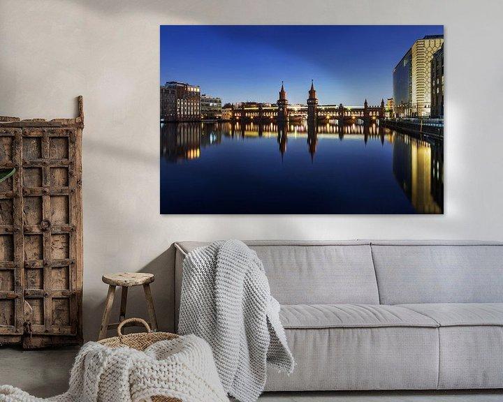 Sfeerimpressie: Berlijn, Oberbaumbrücke van Frank Herrmann