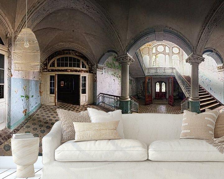 Beispiel fototapete: Alter Korridor in einem verlassenen Gebäude von Frank Herrmann