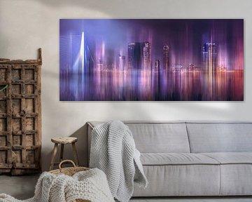 Art impressie van de Rotterdamse skyline van Dennisart Fotografie