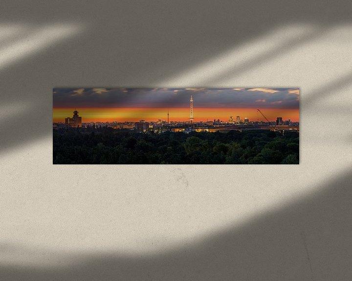 Sfeerimpressie: Berlijn Panroama bij zonsopgang van Frank Herrmann