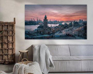Landungsbrücken Hamburg van Steffen Peters