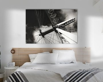 London Eye zwart wit van Erik Juffermans