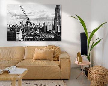 Skyline London, zwart-wit. van Erik Juffermans