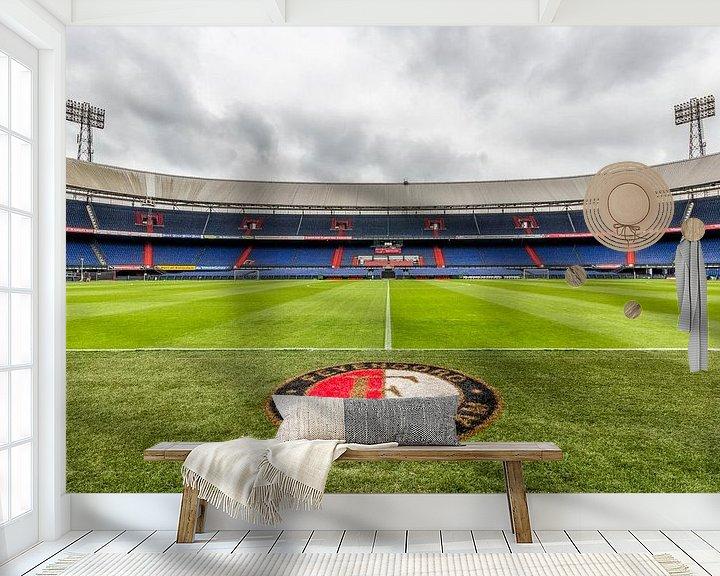 Sfeerimpressie behang: Dichtbij het gras van de Kuip | Feyenoord Rotterdam van Tux Photography
