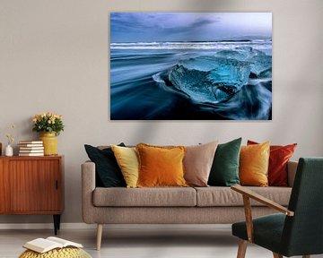 Diamond Beach IJsland van Mario Calma