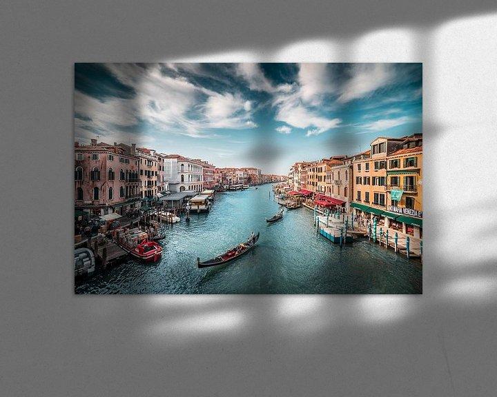 Beispiel: Canal Grande (Großer Kanal) mit Gondeln Venedig in Italien von Atelier Liesjes