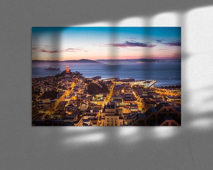 Beispiel: Coit Tower und Alcatraz in San Francisco von Atelier Liesjes