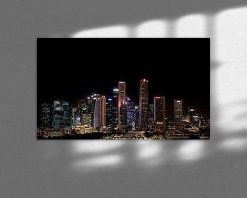 Singapore skyline van Rens Roosloot