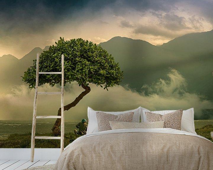 Sfeerimpressie behang: overpeizingen van Ton Buijs