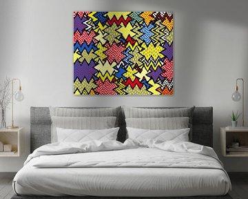 Bunte Kunst Abstrakt