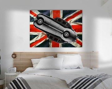 Bentley S2 met Union Jack van aRi F. Huber