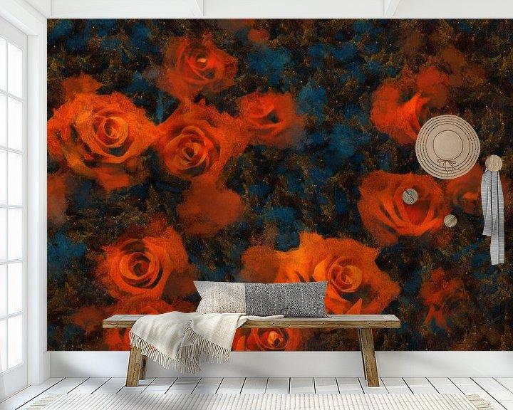 Sfeerimpressie behang: Roses van Jacky Gerritsen