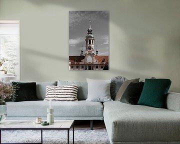 Prag - Oranger Turm von Wout van den Berg