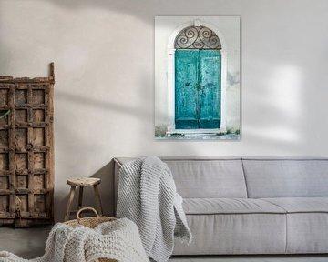 Closed door in beautiful Toscane