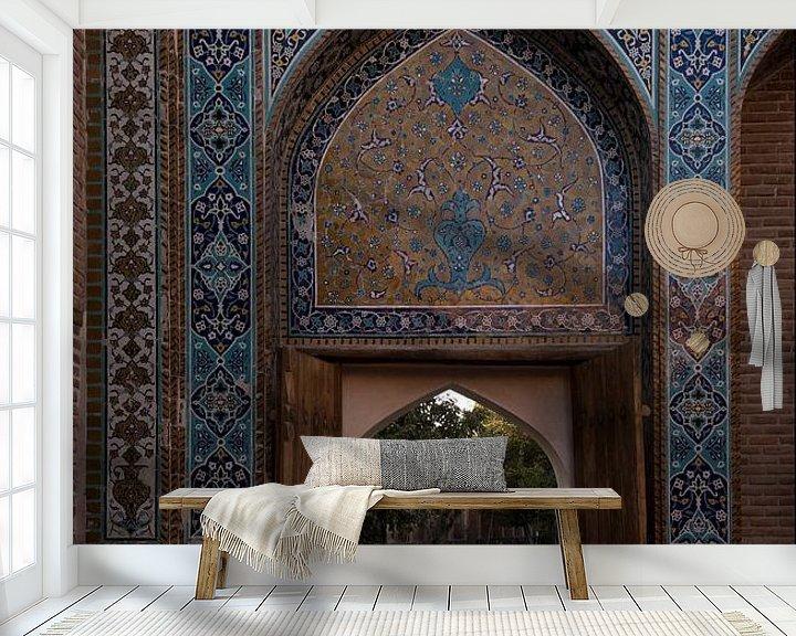 Sfeerimpressie behang: Iran: Khānegāh en heiligdom van sjeik Safi al-Din (Ardabil) van Maarten Verhees