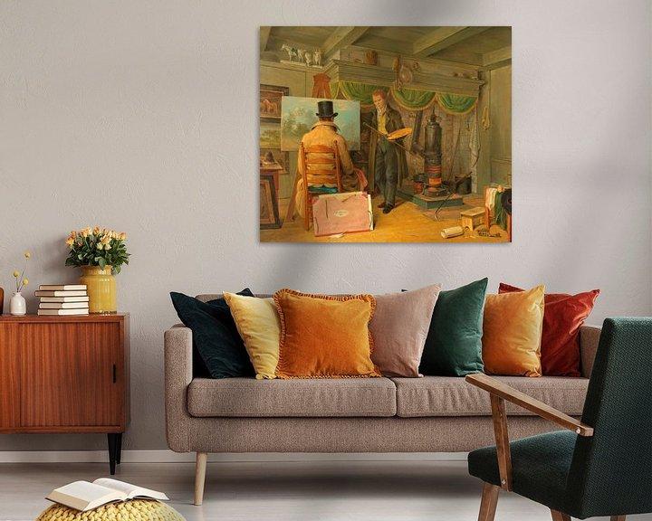 Beispiel: Der Künstler in seinem Atelier, Anthony Oberman
