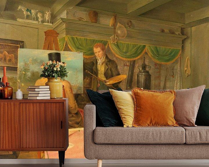Beispiel fototapete: Der Künstler in seinem Atelier, Anthony Oberman
