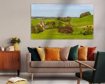 Heuvellandschap in de Voerstreek: Kasteel Beusdael
