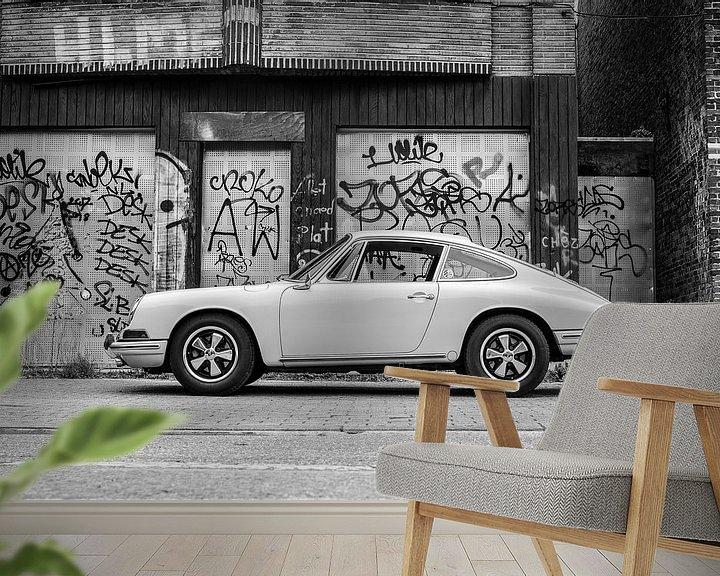 Sfeerimpressie behang: Porsche 912 van Mark Bolijn