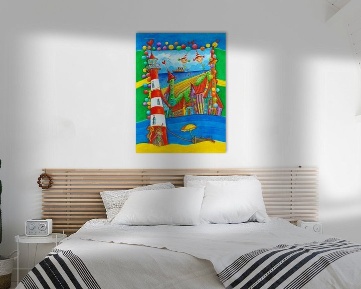 Sfeerimpressie: Vuurtoren Stad - Kunst voor kleine Prinsen en Prinsessen van Atelier BuntePunkt