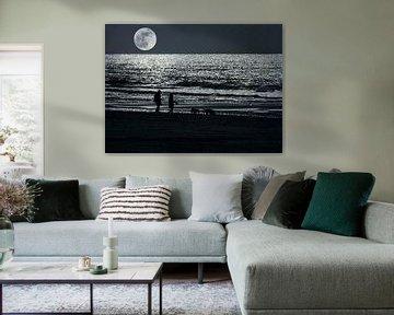 Bei Vollmond am Meer von Anouschka Hendriks