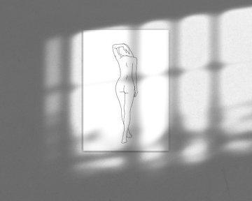 Weiblicher Körper, Strichzeichnung von Nynke Altenburg