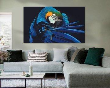 Papagei von Hendrik Jonkman