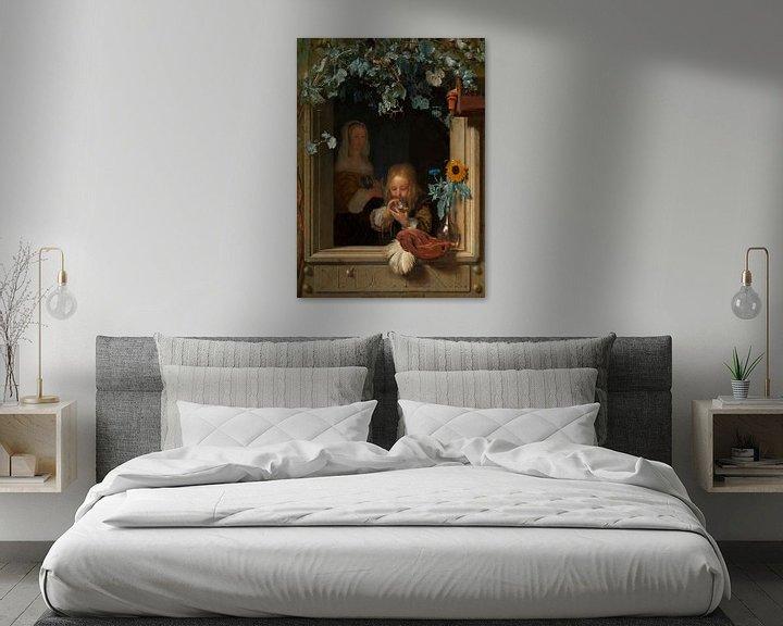 Beispiel: Blasenbildender Junge, Frans van Mieris (I)