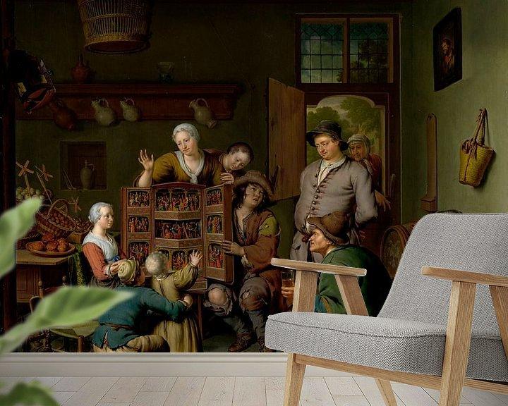 Beispiel fototapete: Die Seltene Schau ('t Fraay Curieus), Willem van Mieris