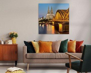 Kölner Dom und Hohenzollernbrücke von Michael Valjak